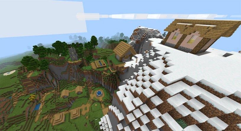 Amazing Mountain Village Seed Image