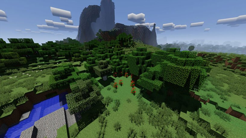 Example screenshot of VanillaPlus shader in Minecraft