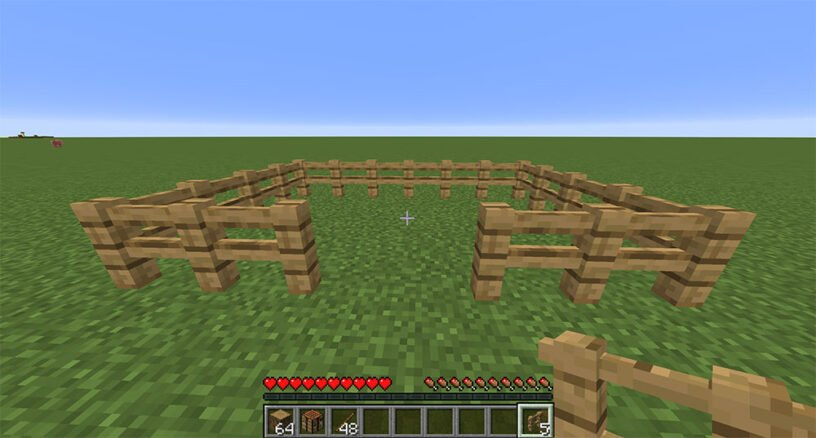 Wood fence example