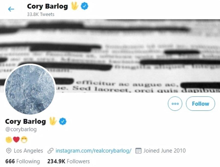 The Twitter header for Santa Monica Creative Director Cory Barlog