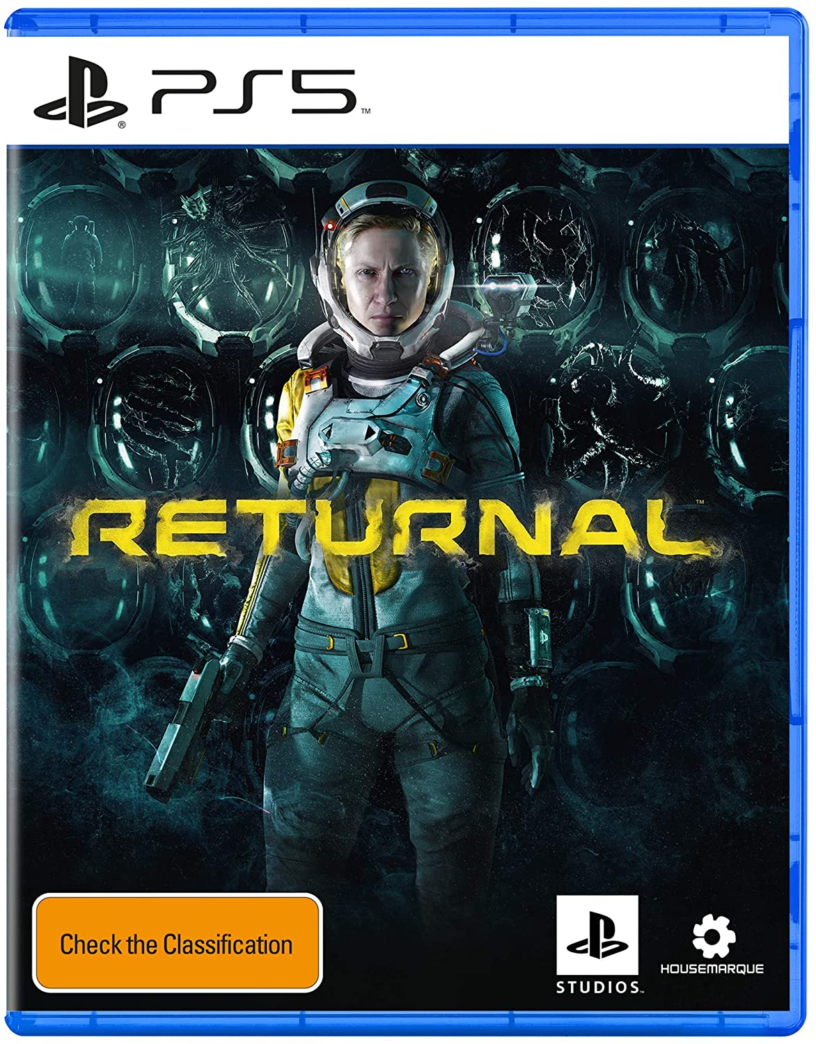 The official box art for upcoming PlayStation 5 game Returnal