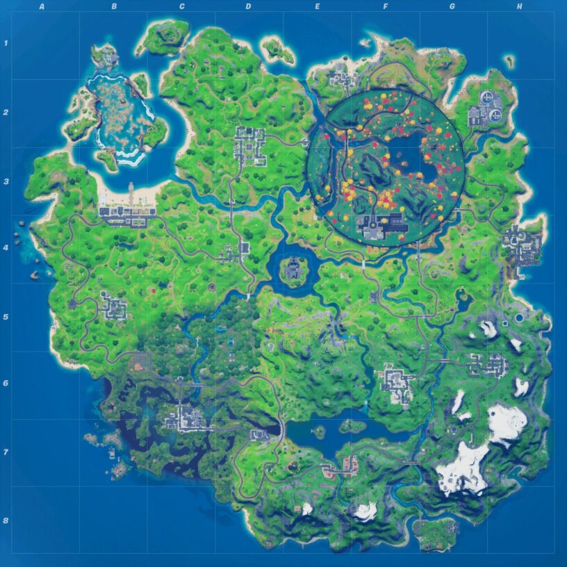 Fortnite map with new Stark Industries POI