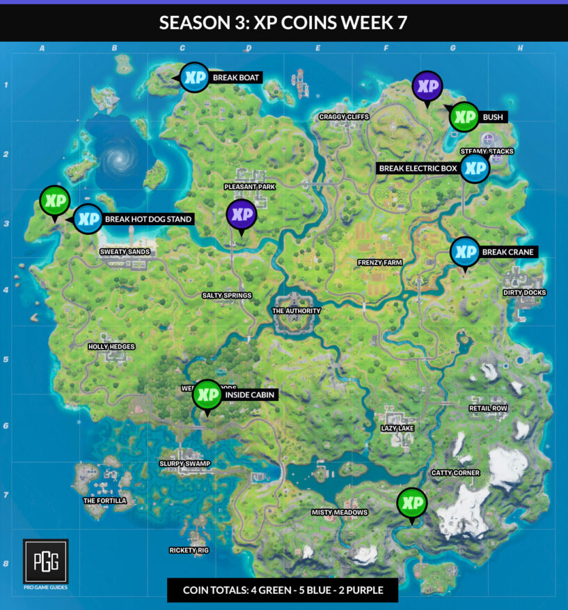 fortnite coin map