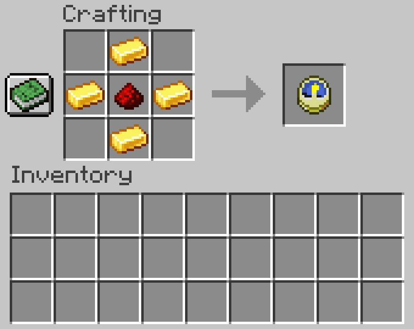 Crafting recipe for a clock