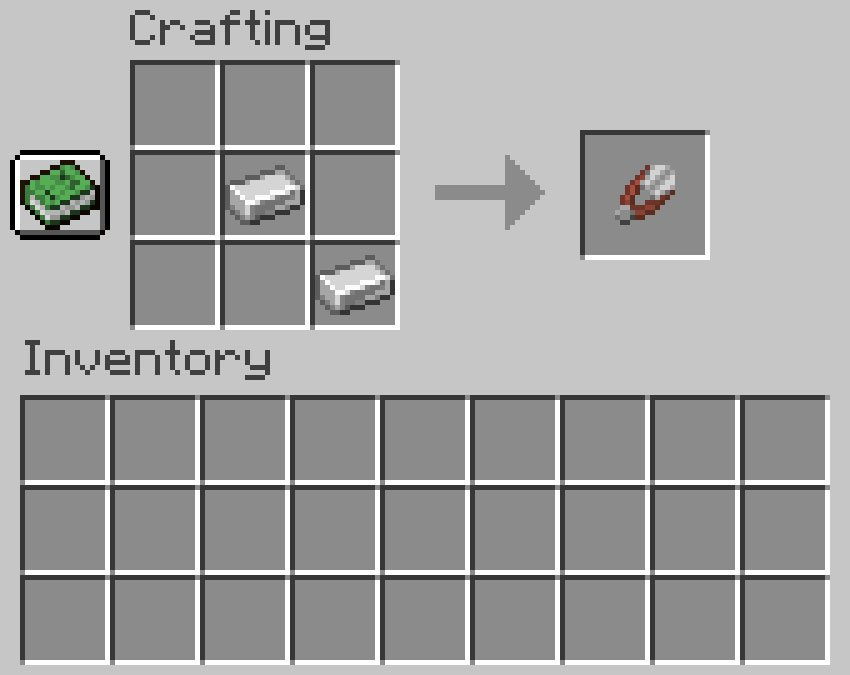 Crafting recipe for shears